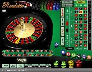 Triple Bonus Spin Roulette3