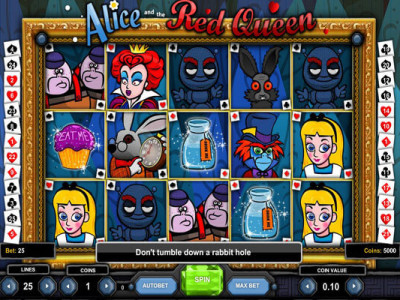 alice and the red queen pokie