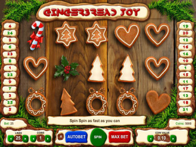 gingerbread joy pokie