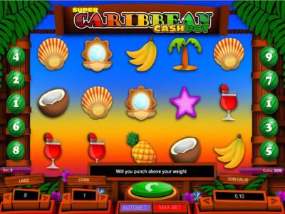 super caribbean cashpot pokie